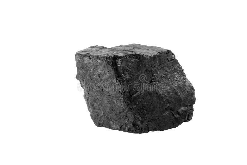 Mineral negro del carbón de la región de Donetsk (Ucrania) fotografía de archivo
