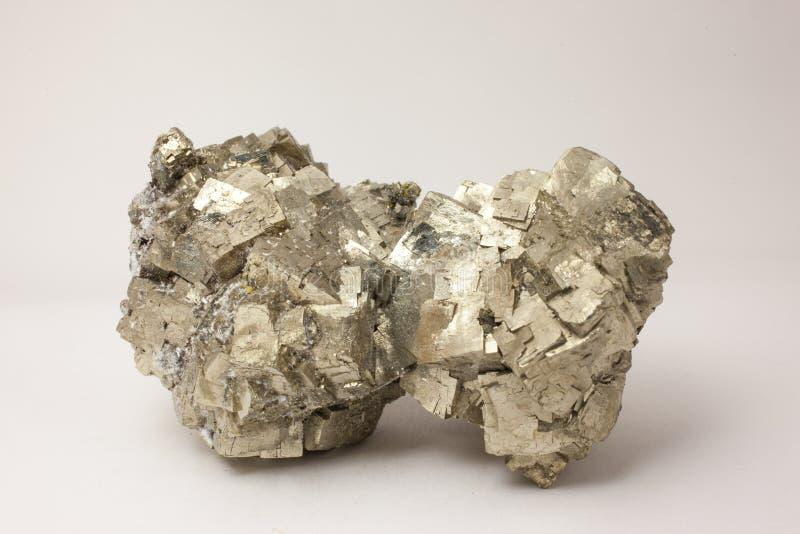 Mineral: Pyrit royaltyfria foton