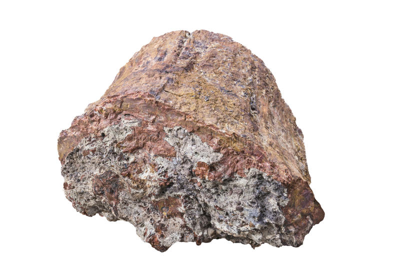 Mineral Rock. An isolated sample of the mineral rock royalty free stock photo