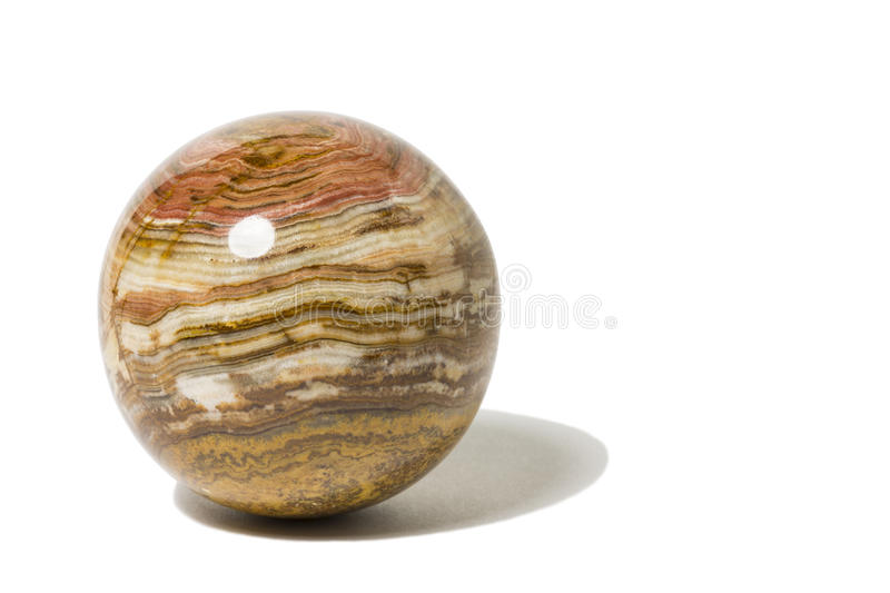 Mineral Rock Marble. A single marble made from mineral rock stock images