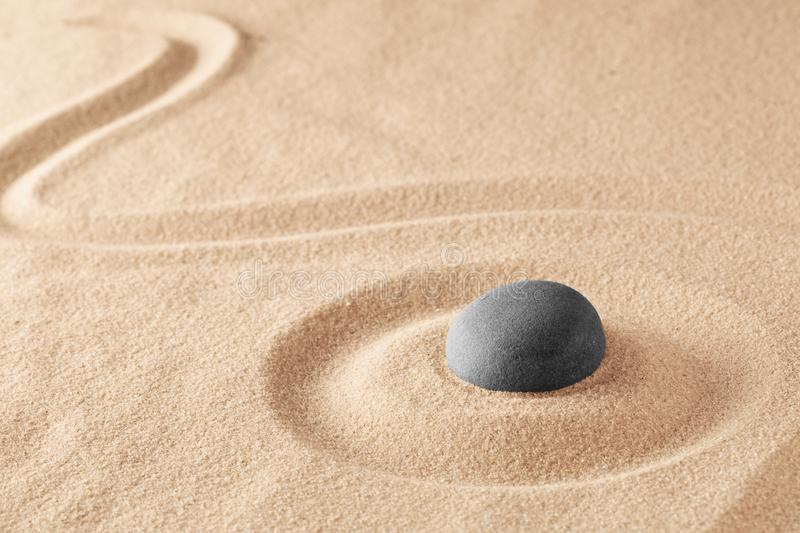 Mineral stone therapy for a quiet peace of mind through zen meditation royalty free stock photo