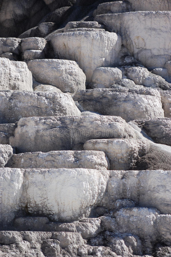 Mineral Terraces At Mammoth Hot Springs Stock Photo