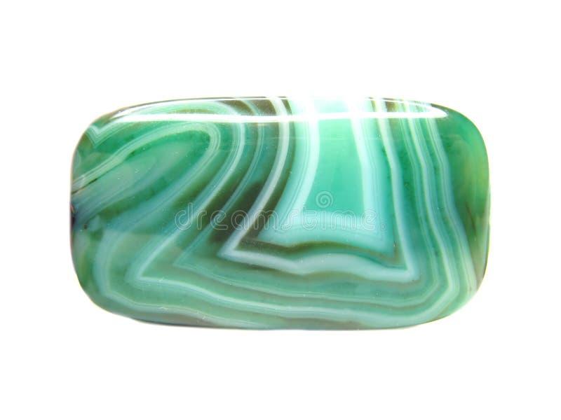 Mineral verde da calcedónia imagem de stock royalty free