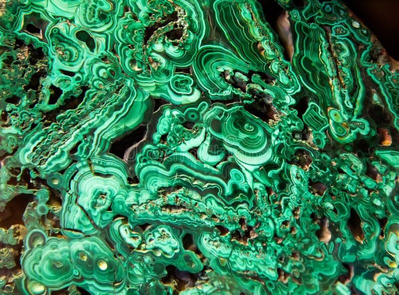 Mineral verde de la malaquita imagen de archivo