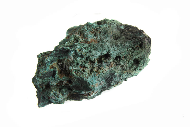 Mineral de la malaquita fotos de archivo