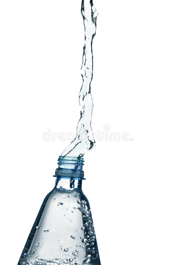Download Mineral Water Splashing From Bottle Stock Photography - Image: 13074312
