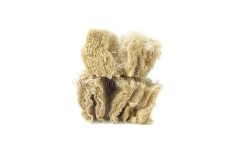 Mineral wool for insulation. The fiberglass royalty free stock images