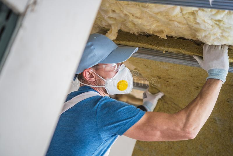 Mineral Wool Insulation royalty free stock photography