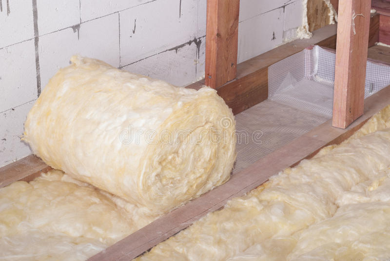 Mineral wool packing stock photos