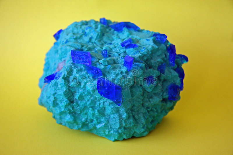 Minerale Azurite stock afbeelding
