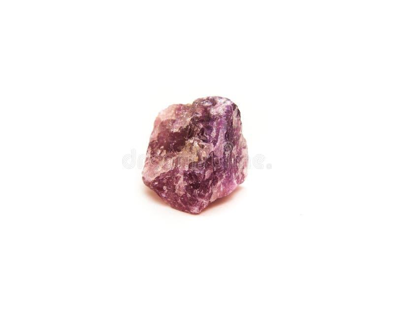 Minerale della fluorite isolato immagine stock libera da diritti