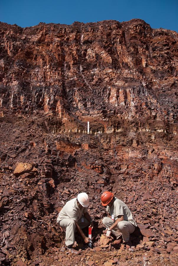 Minerale di ferro immagine stock libera da diritti