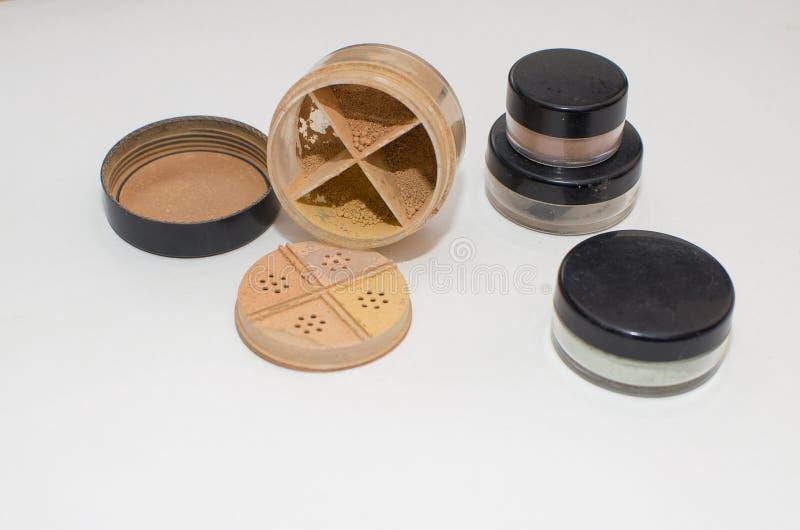 Minerale make-up royalty-vrije stock foto
