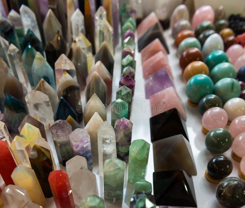 Mineralen, natuurlijk kleurenkwarts royalty-vrije stock foto's