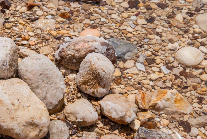 Mineralen van Dode Overzees stock afbeeldingen