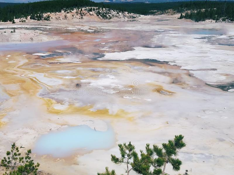 Mineraler i vulkan royaltyfri fotografi