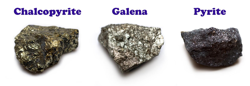 Minerales del sulfuro imágenes de archivo libres de regalías
