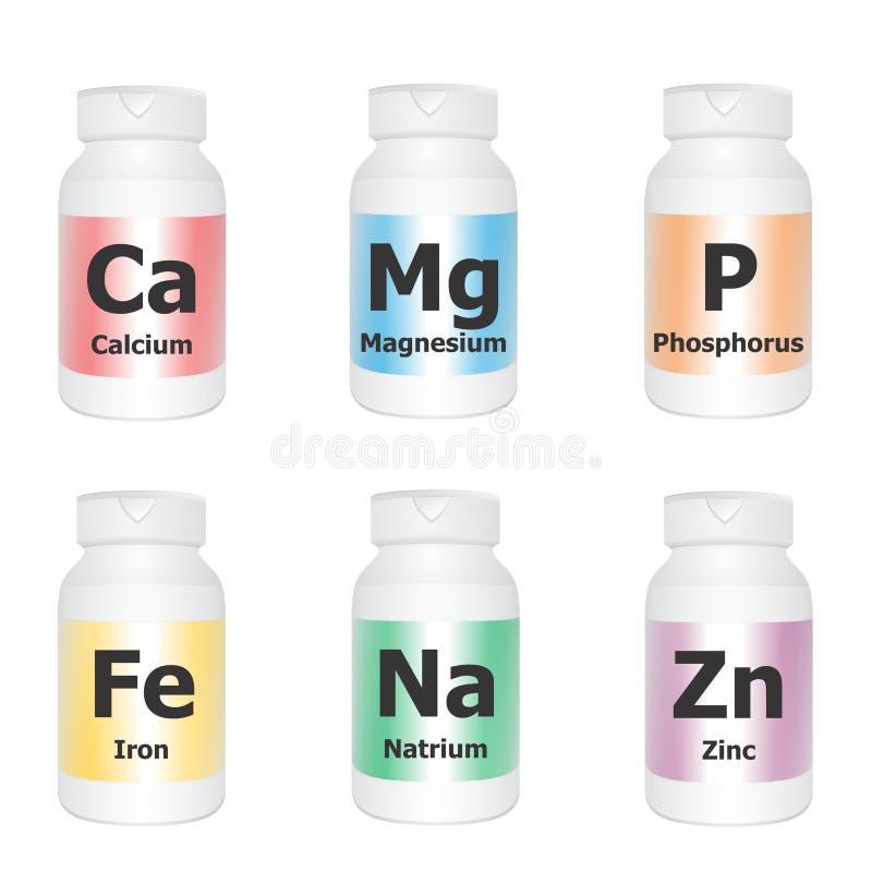 Minerales esenciales stock de ilustración