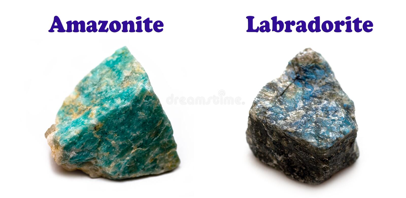Minerali dei feldspati fotografia stock