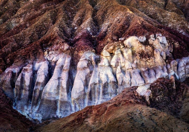 Mineralien in den Felsen stockfoto