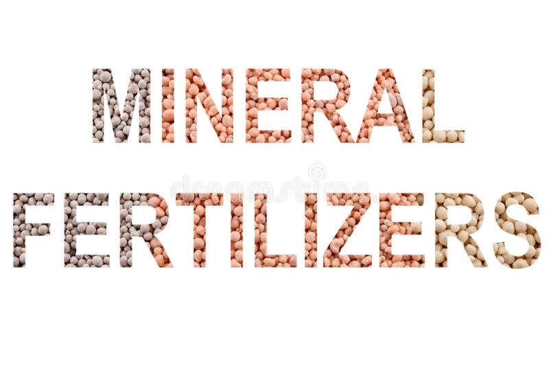 MINERALISKA GÖDNINGSMEDEL för ord som 'göras av mineralisk gödningsmedelbakgrund arkivfoton
