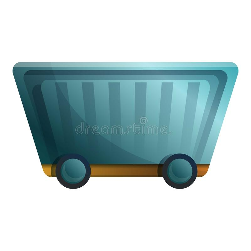 Minerallastwagenwagenikone, Karikaturart lizenzfreie abbildung