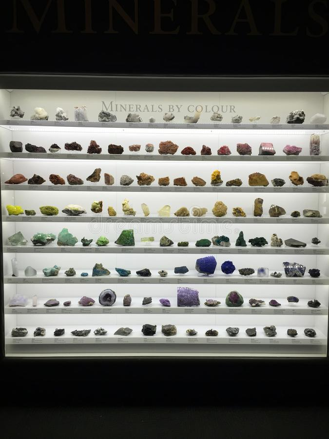 Minerals by color royalty free stock photos