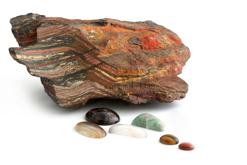 Download Minerals, Rough And Polished Stock Photography - Image: 1244282