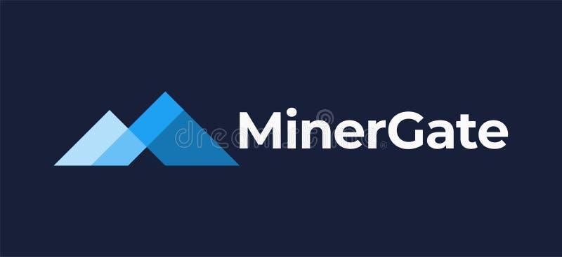 Minergate-cryptocurrency Ikone lizenzfreie abbildung