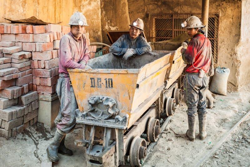 Mineros en Potosi imágenes de archivo libres de regalías