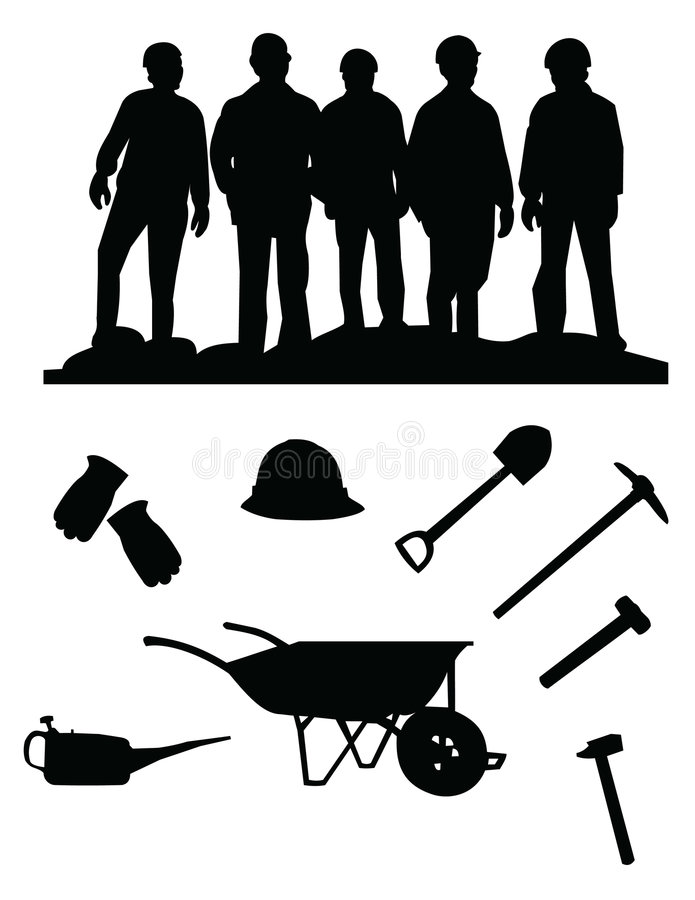 Download Miners stock vector. Image of laborer, background, energy - 9149414