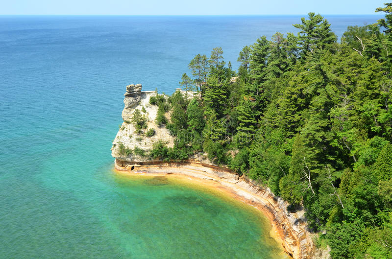Miners Castle at Pictured Rocks National Lakeshore royalty free stock image