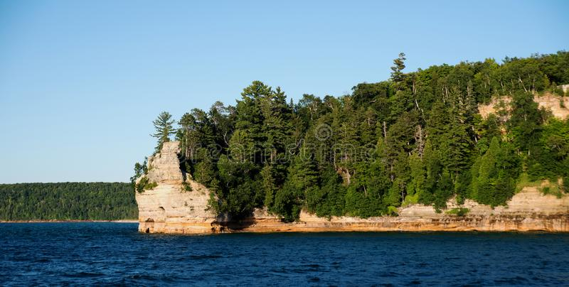 Miners Castle at Pictured Rocks National Lakeshore stock image