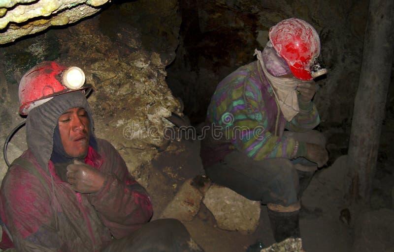 Miners in Potosi, Bolivia royalty free stock photo