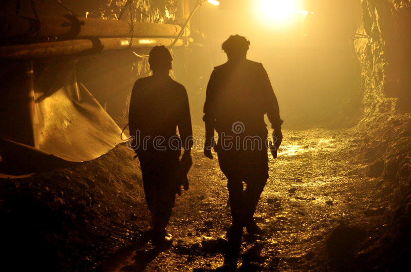 Miners royalty free stock photography