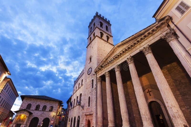 Minerva świątynia w Assisi zdjęcie stock