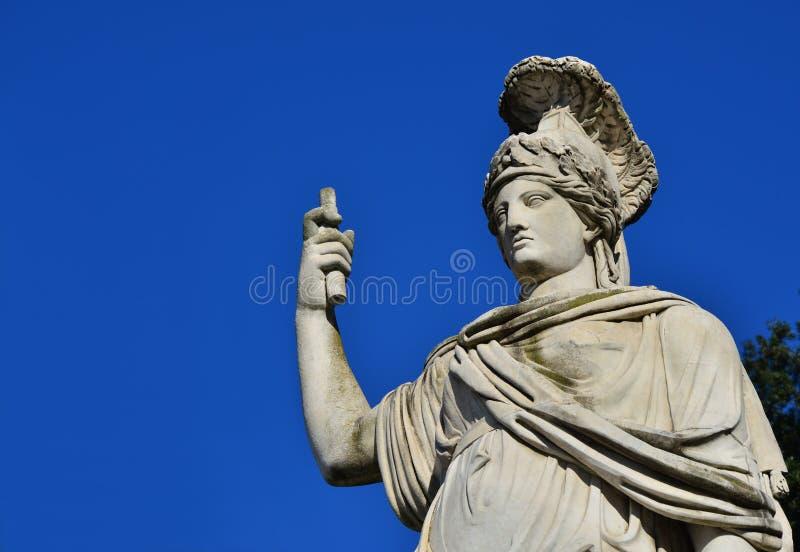 Minerva jako Dea Roma obrazy royalty free