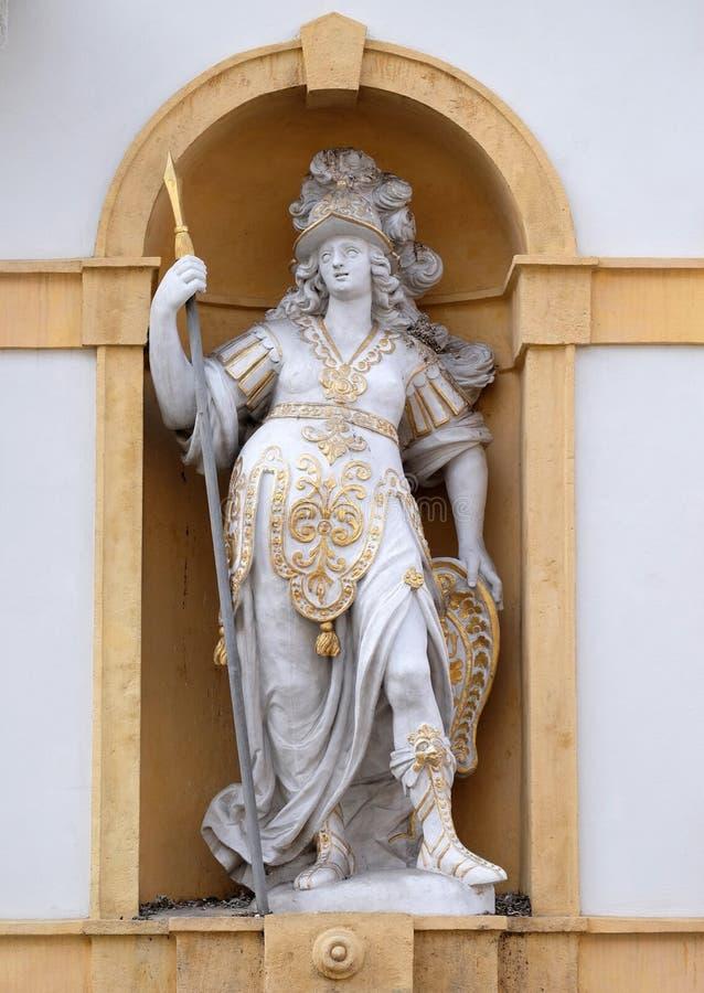Minerva, Romańska bogini mądrość i sponsor, sztuki, handel i strategia, obrazy stock