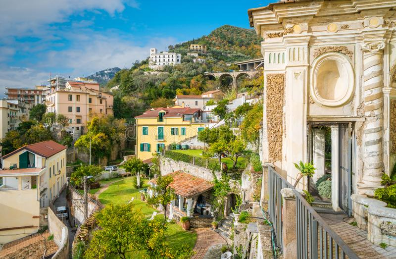 Minerva-` s Garten in Salerno, Kampanien, Italien lizenzfreie stockbilder