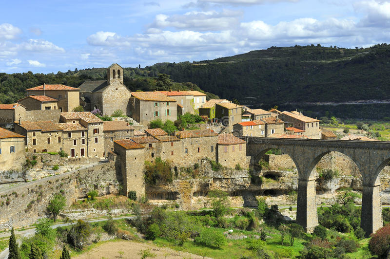 Download Minerve, France stock image. Image of town, aquaduct - 24772393
