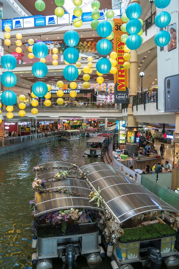 The Mines Cruise is a boat ride on two large lakes next to The Mines shopping mall in Seri Kembangan. Kuala Lumpur,Malaysia - September 11,2018 : The Mines royalty free stock photography