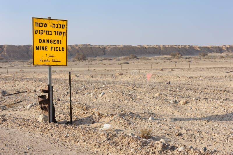 Mines de danger ! photographie stock libre de droits