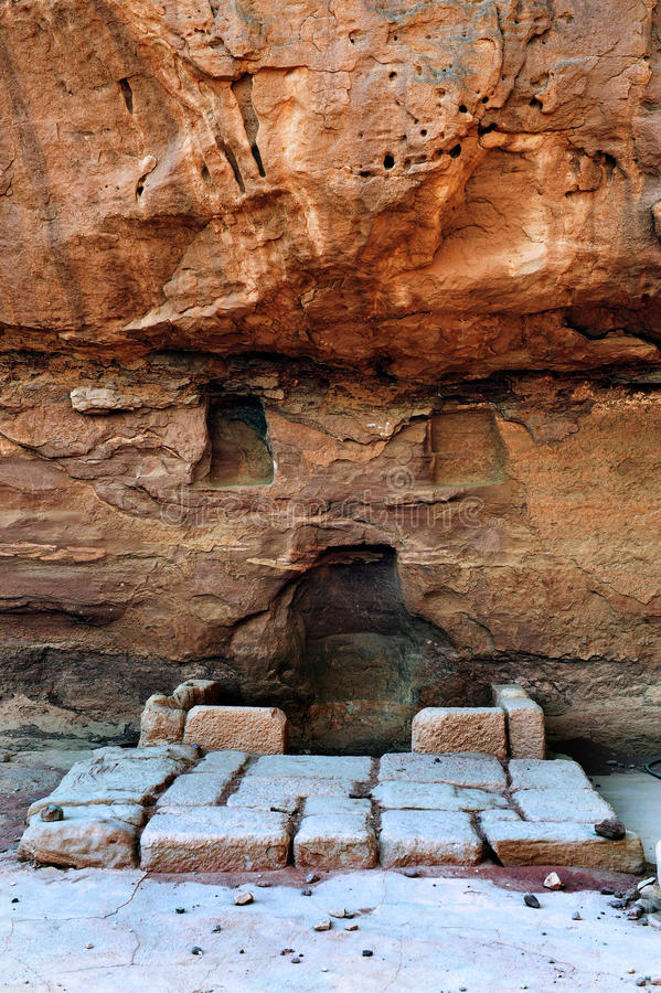 Mines di Timna della sosta e del re Solomon immagini stock libere da diritti