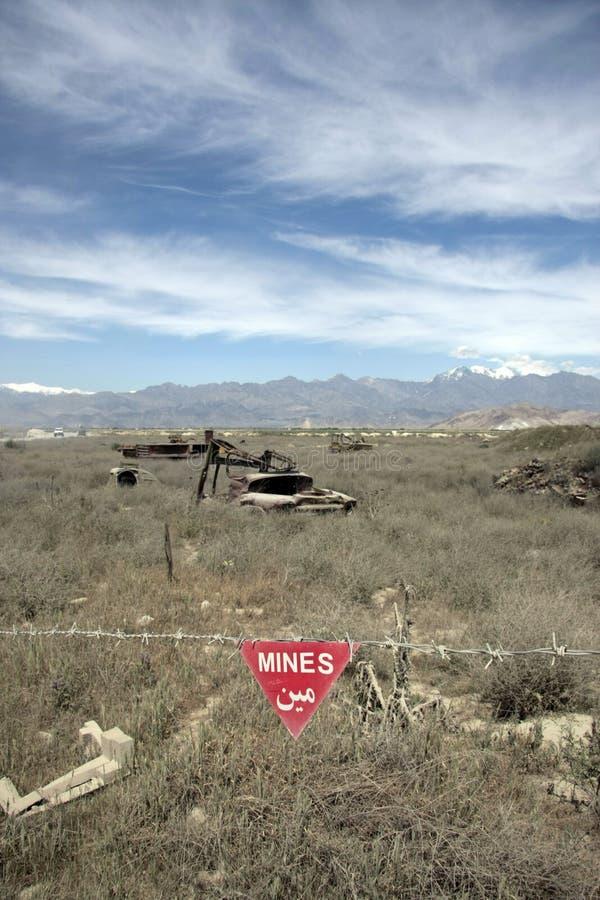 Mines en Afghanistan photo libre de droits