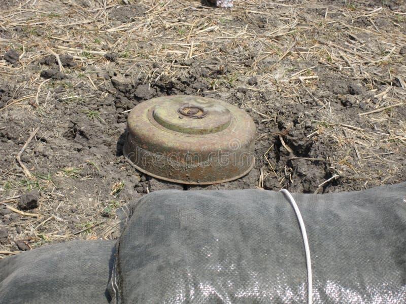 Mines terrestres au Soudan du sud images libres de droits