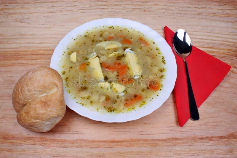Minestra bianca del borscht immagini stock