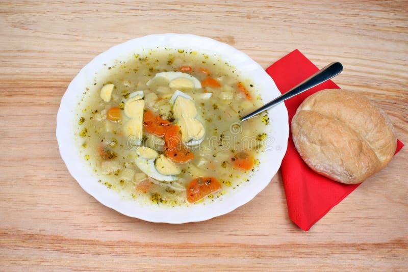 Minestra bianca del borscht fotografia stock