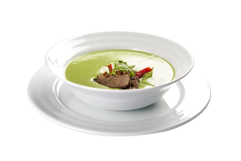 Minestra crema con i broccoli Un piatto austriaco tradizionale fotografia stock