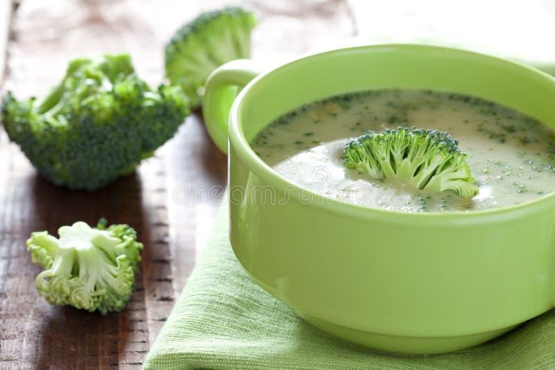 Minestra del broccolo immagine stock libera da diritti