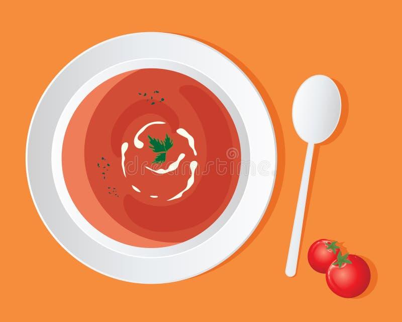 Minestra del pomodoro illustrazione di stock